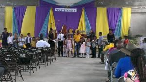 Children performing Bible Alphabet